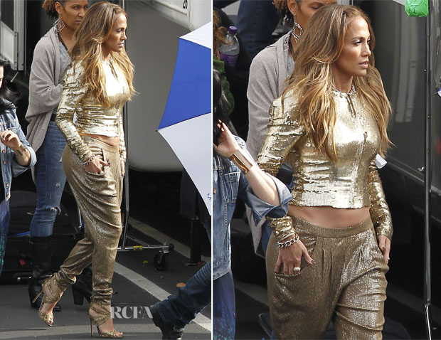 Jennifer Lopez In Temperley London Amp Michael Michael Kors American Idol Top 6 Live Performance Show Red Carpet Fashion Awards