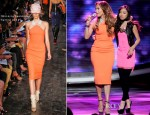 Jennifer Lopez In Victoria Beckham - 'American Idol' Season 11 - Top 7 To 6 Live Elimination Show