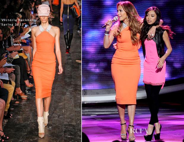 629b8ca44461 Jennifer Lopez In Victoria Beckham – 'American Idol' Season 11 – Top 7 To 6  Live Elimination Show. Jennifer Lopez ...