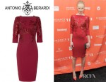 Kate Bosworth's Antonio Berardi Embellished Crepe Dress