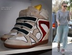 Kate Bosworth's Isabel Marant Wedge Sneakers