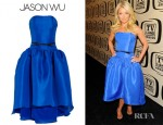Kelly Ripa's Jason Wu Belted Silk Gazar Dress