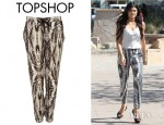 Kylie Jenner's Topshop Smudge Print Joggers