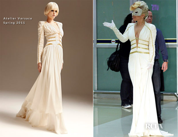 Lady Gaga In Atelier Versace - Seoul\'s Gimpo Airport - Red Carpet ...