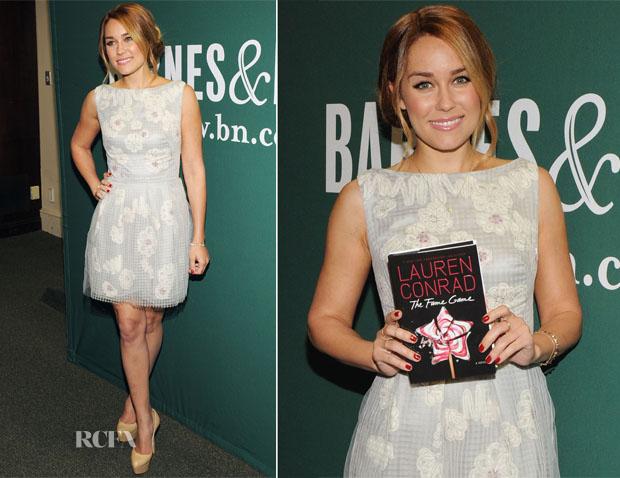 Lauren Conrad In Lela Rose - 'The Fame Game' Barnes & Noble