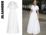 Leelee Sobieski's Jil Sander Language Stretch Cotton Gown