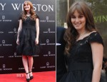 Leighton Meester In Marchesa - Harry Winston Shanghai Salon Opening