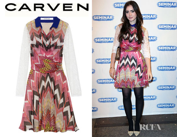 Lily Collins Carven