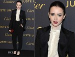 Lily Collins In Dolce & Gabbana - Cartier Juste un Clou After Party