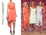 Lindsay Ellingson's Rebecca Minkoff Ero Sleeveless Chiffon Draped Dress