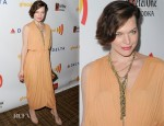 Milla Jovovich In Halston - 23rd Annual GLAAD Media Awards