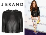 Minka Kelly's J Brand Baez Leather Top