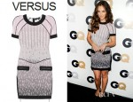 Minka Kelly's Versus Printed Stretch Jersey Dress