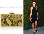 Miranda Kerr's Stella McCartney Ava Metal Framed Faux Python Box Clutch