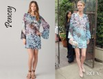 Nicky Hilton's Pencey Feather Print Mini Dress