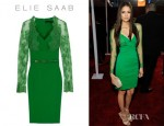 Nina Dobrev's Elie Saab Lace Sleeve Dress
