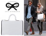 Olivia Palermo's Anya Hindmarch Burton Top Handle Bag
