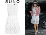 Rachel Bilson's Suno Lace Embroidered Mini Dress
