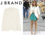 Rashida Jones' J Brand Morissette Tux Japanese Twill Jacket