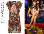 Rashida Jones' Thakoon Printed Silk Crepe De Chine Dress
