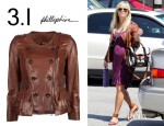 Reese Witherspoon's 3.1 Phillip Lim Motorcycle Ruffle Leather Jacket