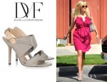 Reese Witherspoon's Diane von Furstenberg Sinead Two Tone Leather Sandals