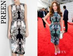 Rose McGowan's Preen Water Colour Dress