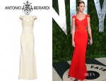 Rosie Huntington-Whiteley's Antonio Berardi Macramé Silk Organza And Chiffon Dress