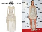 Rosie Huntington-Whiteley's Antonio Berardi Embellished Silk Chiffon Dress