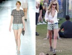 Rosie Huntington-Whiteley In Christopher Kane - Coachella Music Festival