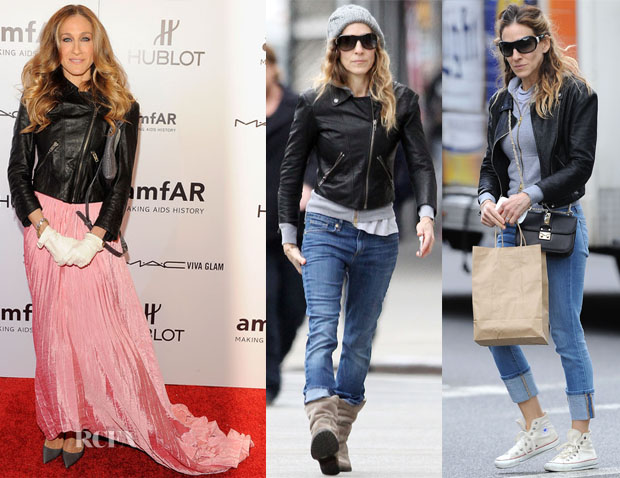 Sarah jessica parker loves her theyskens' theory 'jotor' leather