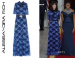 Samantha Cameron's Alessandra Rich Swarovski Crystal Lace Gown