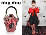 Sami Gayle's Miu Miu Printed Cotton Canvas Mini Bucket Bag