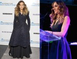 Sarah Jessica Parker In Rochas & Oscar de la Renta - Ann & Robert H. Lurie Children's Hospital of Chicago Gala Benefit