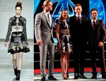 Scarlett Johansson In Mary Katrantzou - 'The Avengers' Rome Premiere