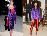 Solange Knowles In Salvatore Ferragamo & Maki Oh - Salvatore Ferragamo Fifth Avenue Store Re-Opening