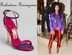 Solange Knowles' Salvatore Ferragamo Blejan Sandals