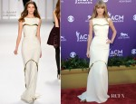Taylor Swift In J. Mendel - 2012 Academy Of Country Music Awards