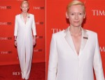 Tilda Swinton In Celine - Time 100 Gala
