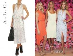 Toni Garrn's A.L.C Pippa Floral Wrap Dress