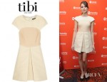 Troian Bellisario's Tibi Cap Sleeve Dress