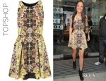 Tulisa Contostavlos' Topshop Intricate Flower Origami Dress