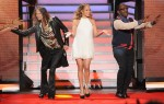 Jennifer Lopez In Alberto Makali - 'American Idol' Top 4 To 3 Live Elimination Show