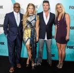 Demi Lovato In Falguni & Shane Peacock and Britney Spears In Alexander Wang - Fox Upfront 2012
