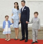 Crown Princess Mary of Denmark In Project D - Christening of Princess Athena of Denmark