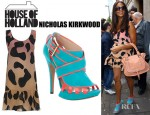 Alesha Dixon's House of Holland Drop Waist Dress, Nicholas Kirkwood Cage Sandals And Chloé Marcie Tote