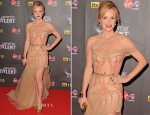 Amanda Holden In J'Aton Couture - Britain's Got Talent Pre-Final Party
