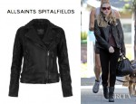 Amanda Seyfried's All Saints Walker Leather Biker Jacket
