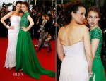 Andie MacDowell In Giorgio Armani and Sarah Margaret Qualley In Elie Saab - 'Therese Desqueyroux' Cannes Film Festival Premiere & Closing Ceremony