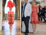 Anne Consigny In Alexis Mabille Couture - 'Vous N'avez Encore Rien Vu' Cannes Film Festival Photocall & Premiere